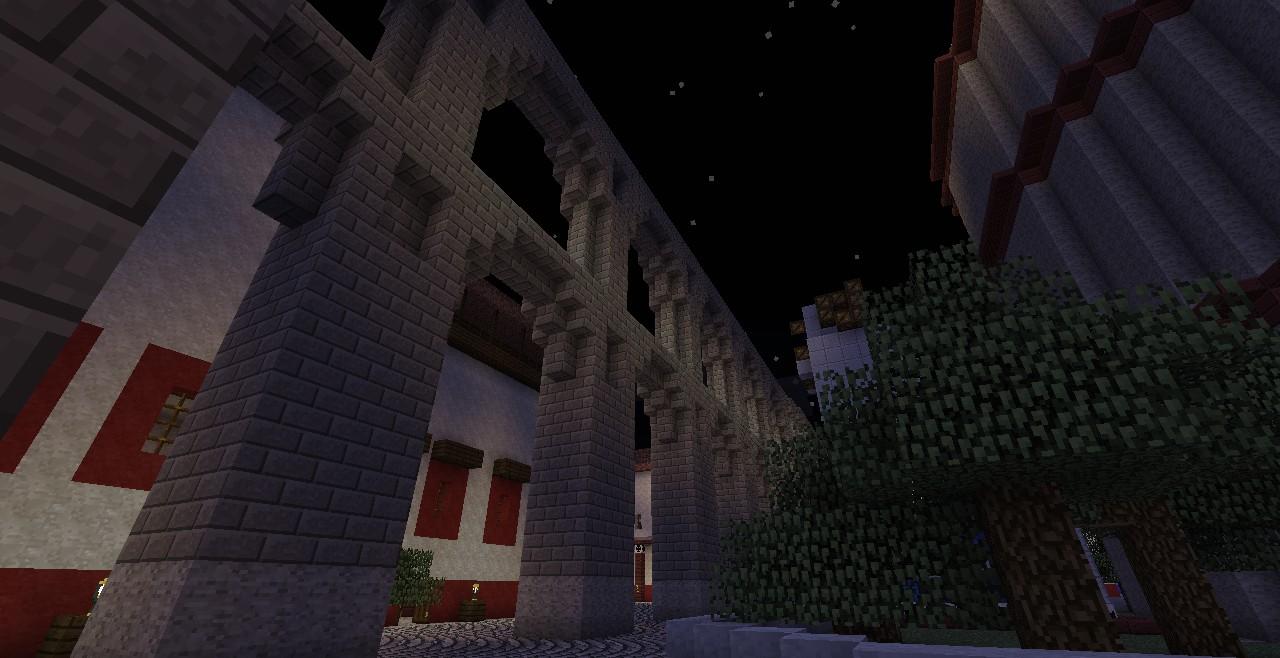 Aqueducts at night