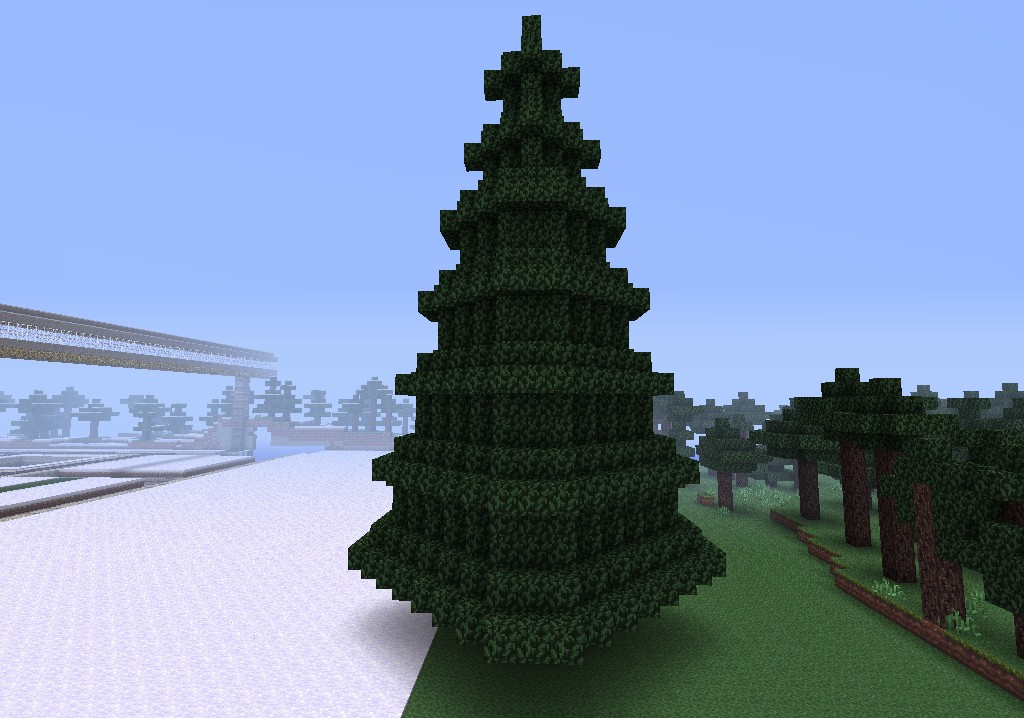 Christmas Tree No decorations Minecraft Project