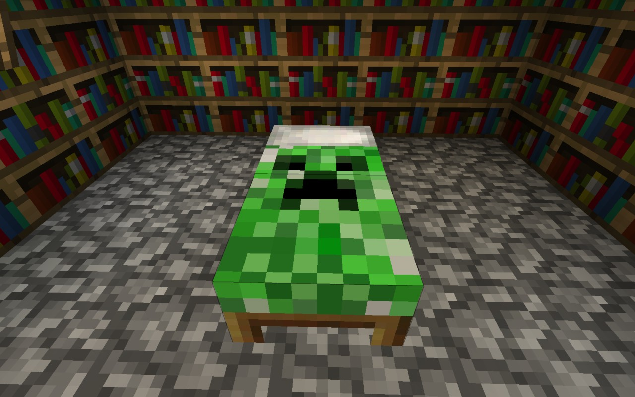Gallery For gt Creeper Bed Minecraft
