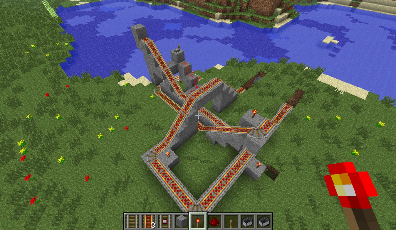 how to connect minecarts in minecraft