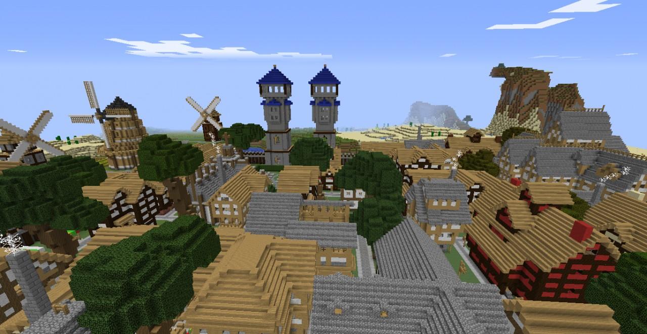 Minecraft Medieval City Download Minecraft medieval tow...