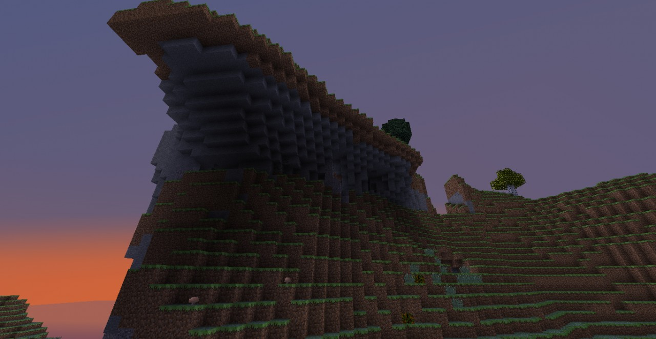 One of the half floating islands