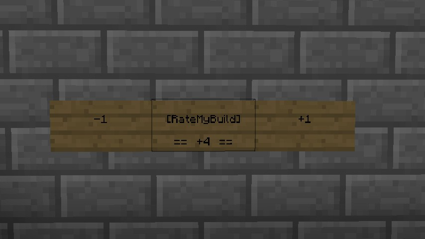 Plugin request rate my build minecraft blog for Rate your builder