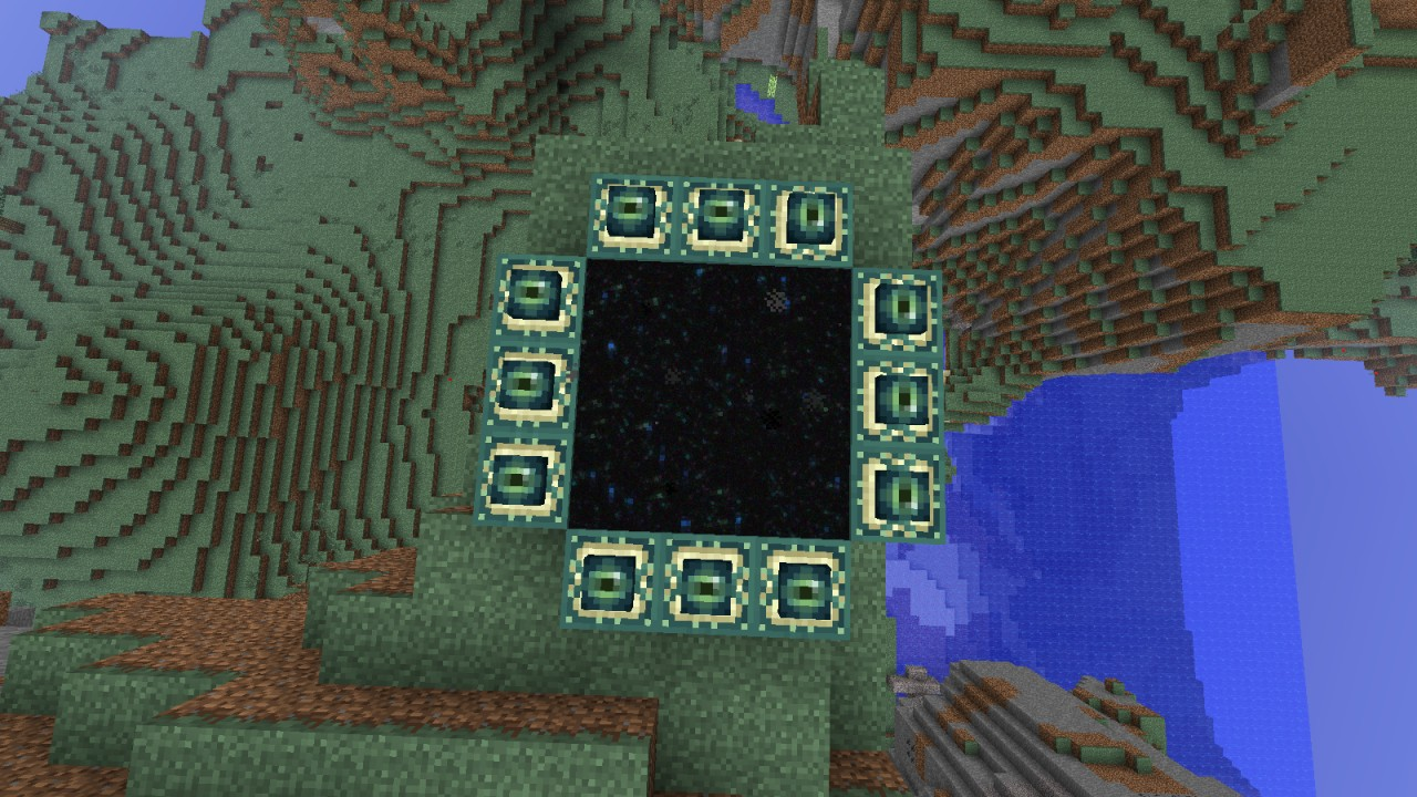 how to make the portal to the end in minecraft