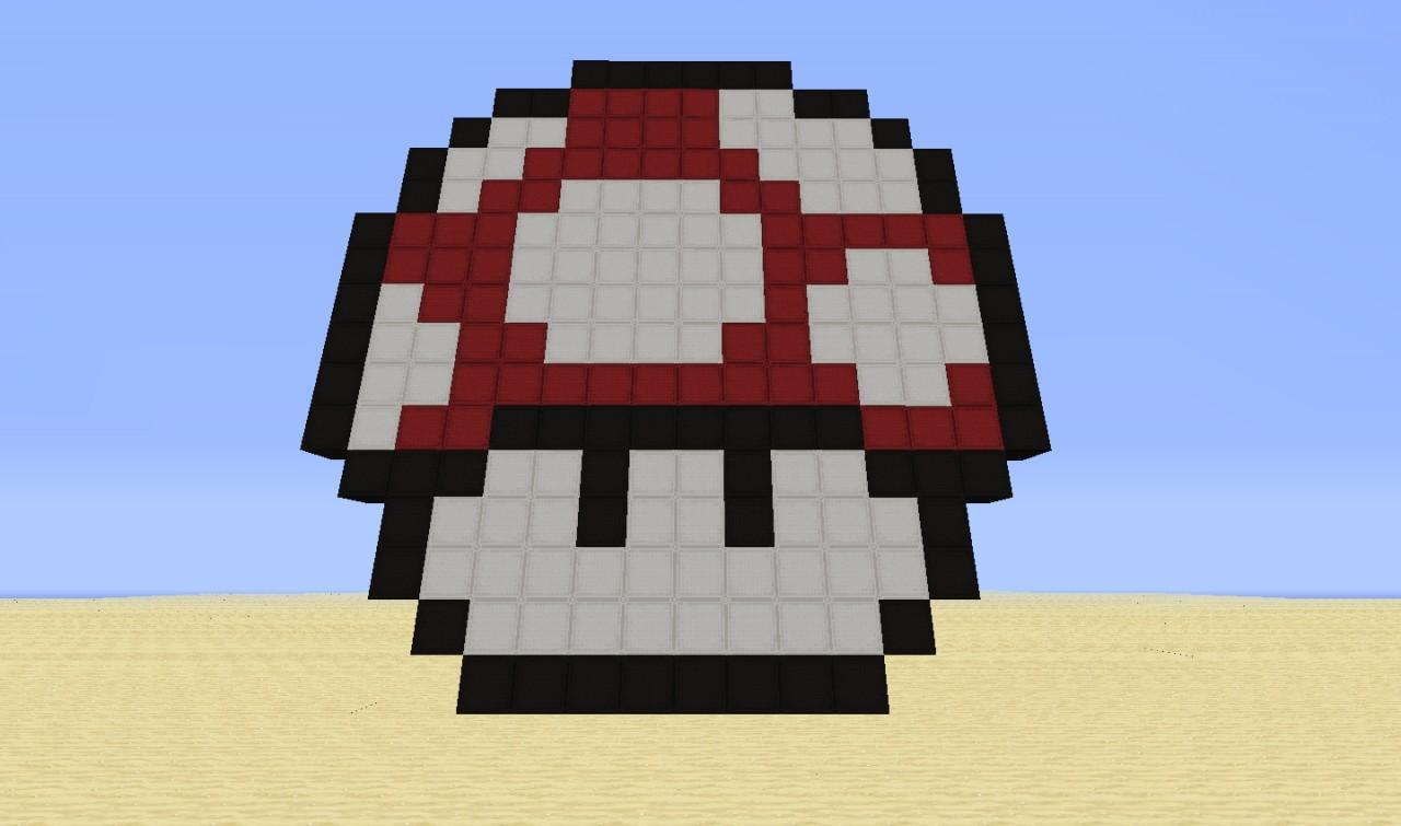 Red Mushroom Mario Minecraft Project