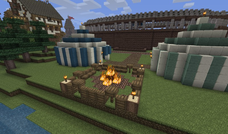 medieval pack 8 camp fire minecraft project