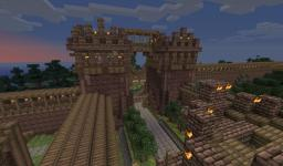 Medieval Pack 7 - Gate with towers Minecraft Project