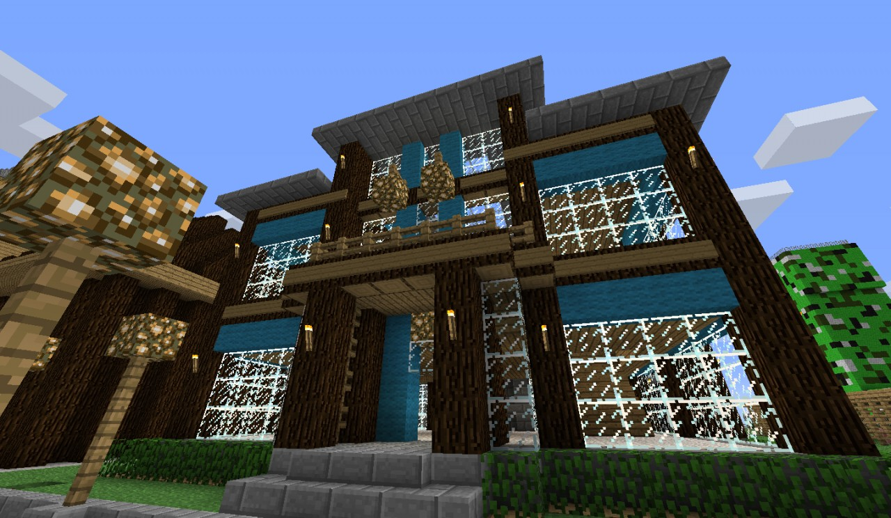 Normal house minecraft project for Projects house