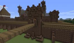 Medieval Pack 10 - gate with wall Minecraft Project