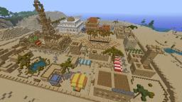 Small desert town. Minecraft Project
