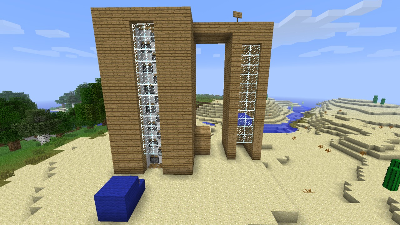 how to build an elevator in minecraft