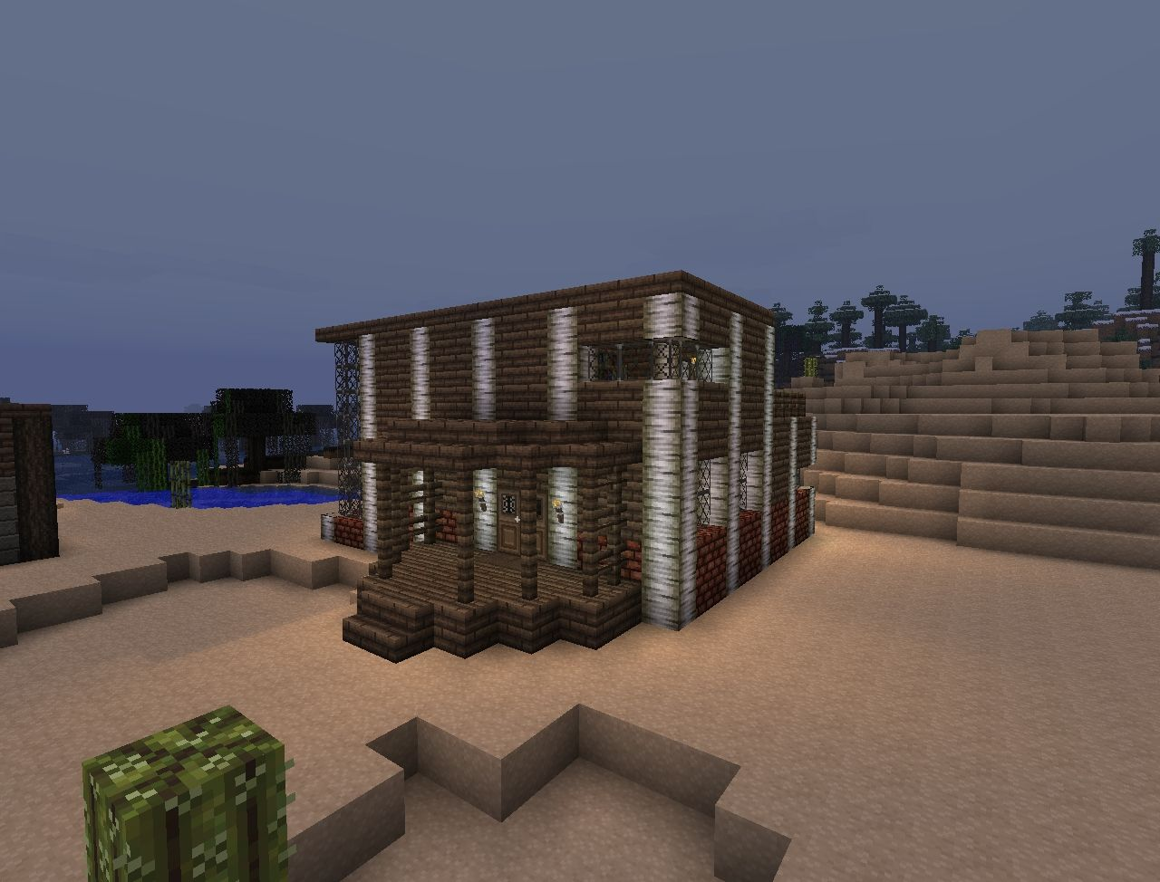 Modern birch wood home minecraft project