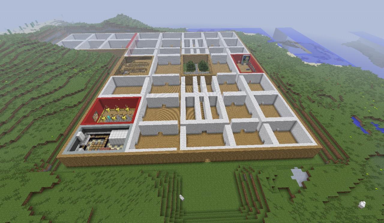 100 room mansion Minecraft Project