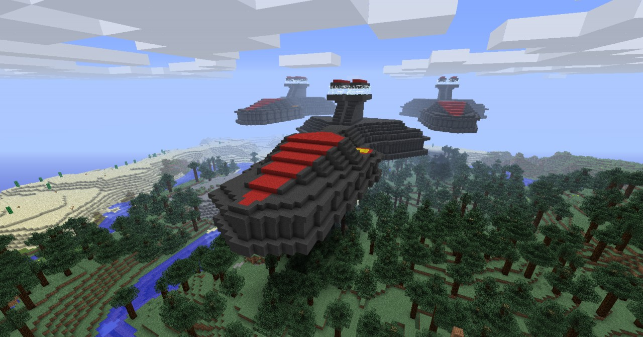 how to build a super star destroyer in minecraft