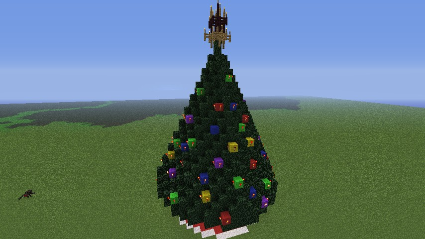 Minecraft Christmas Tree.Extremely Large Christmas Tree Minecraft Project