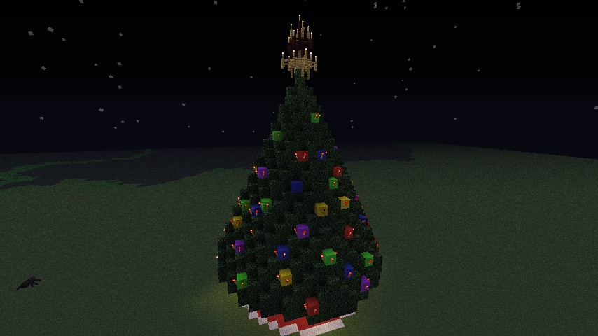 extremely large christmas tree Minecraft Project