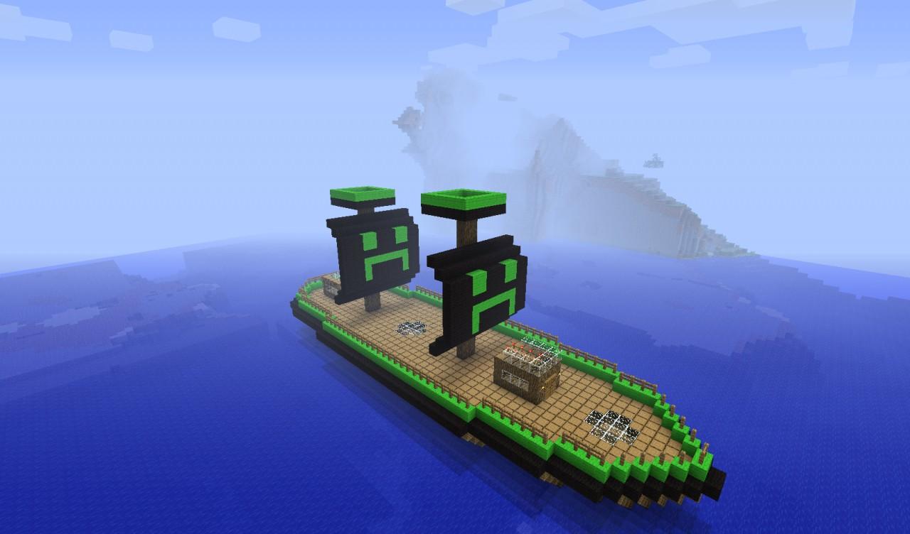 Creeper Boat Minecraft Project