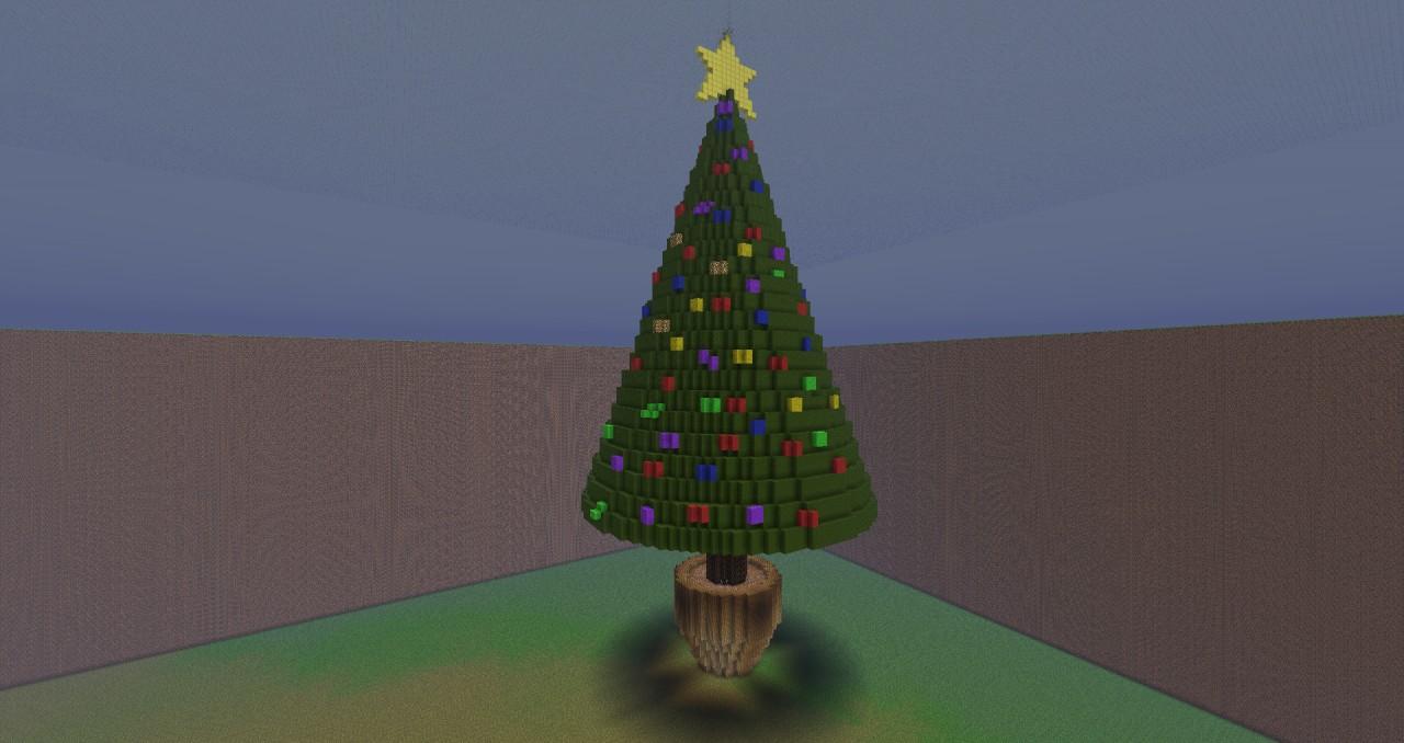 Minecraft Christmas Tree.Giant Christmas Tree Thumbs Up For The Christmas Spirit