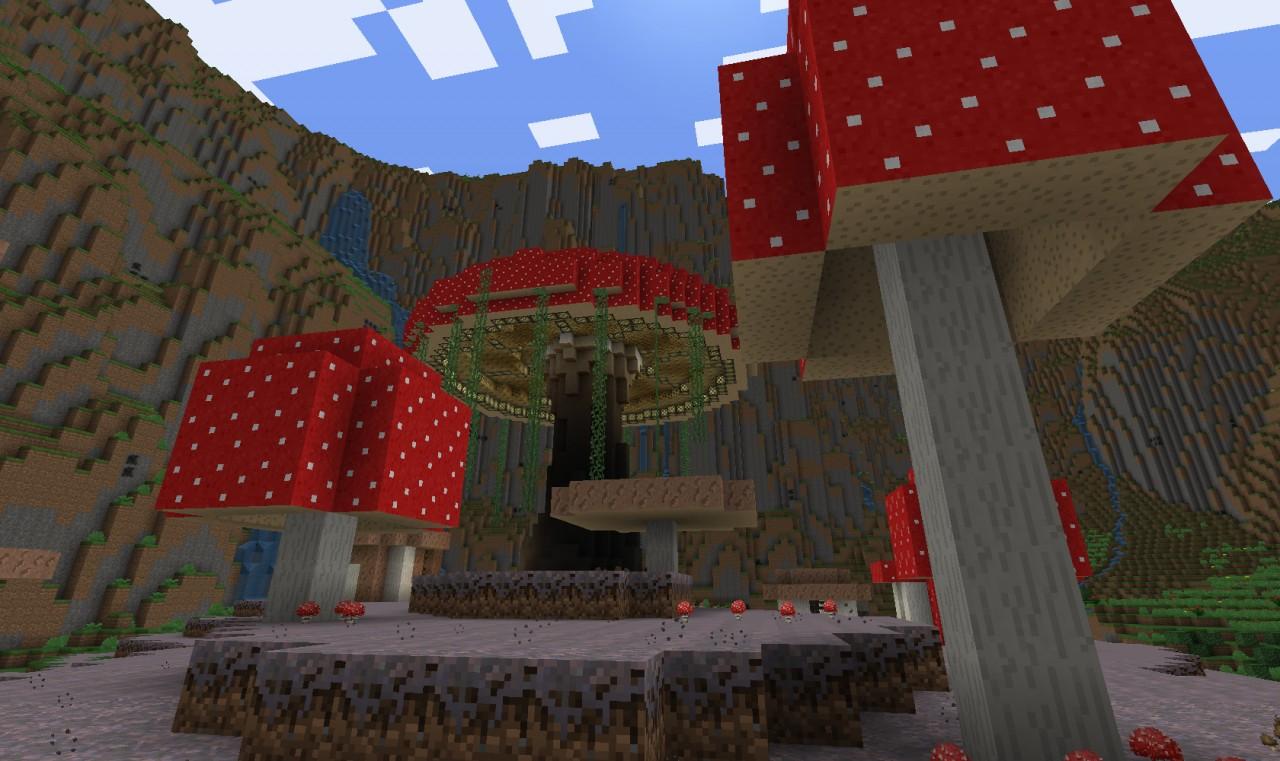 Custom Terrain Rainforest Valley 1 0 Update Minecraft Map
