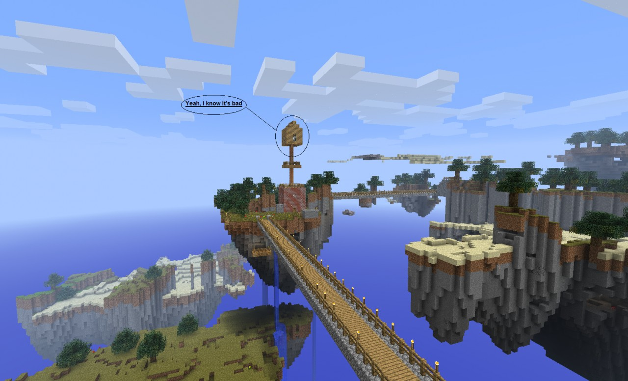 minecraft skylands map 1.3.2