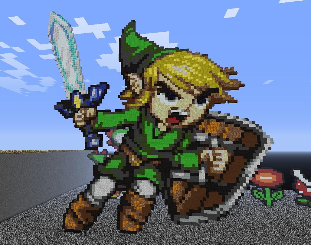 toon link the continuing story of my nintendo zelda pixel art