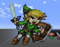 Toon Link (the continuing story of my Nintendo/Zelda pixel art obsession) Minecraft Project