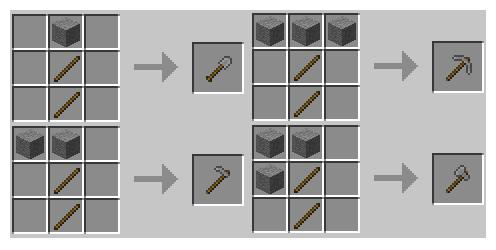 Crafting Stone Tools Minecraft