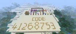 8 Button Coded Door! Password Protected! Minecraft Map & Project