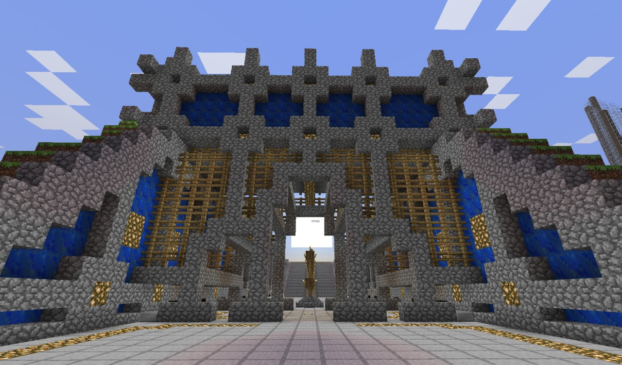 minecraft gate. Interesting Minecraft Entrance  Gate Throughout Minecraft
