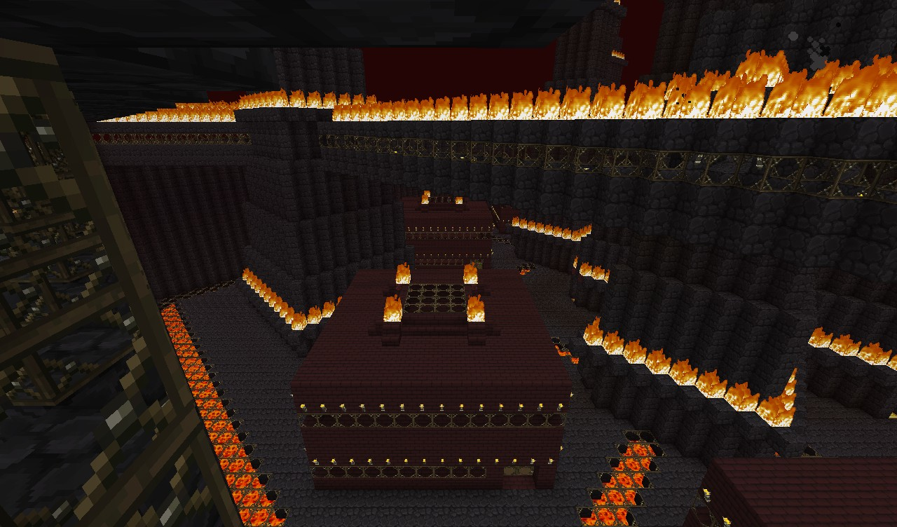Minecraft Nether Fortress Inside Nether Admin Citadel Minecraft