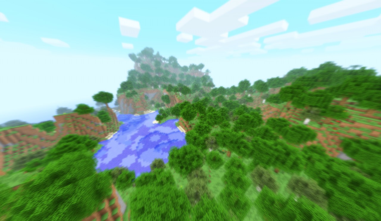 A forest biome.