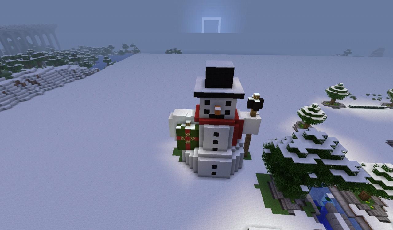 Постройка в майнкрафт снеговик