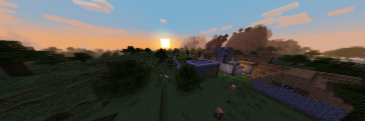 Sunset in a plain village. *har har* = 3=