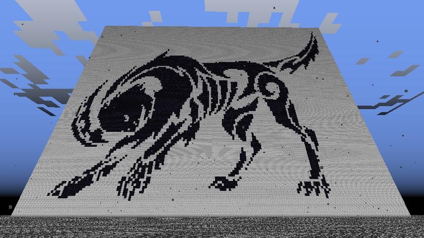 Absol Tribal Pixel Art Minecraft Project
