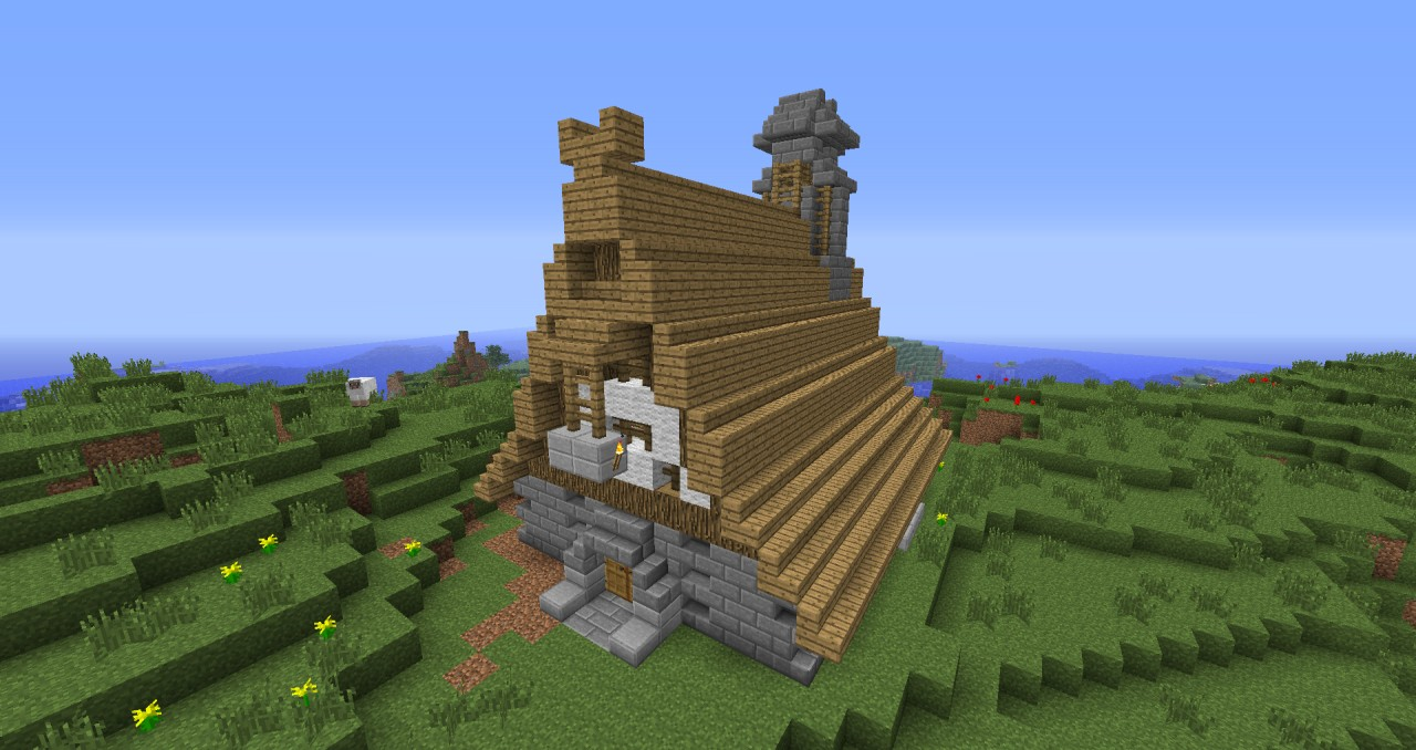 vikings house minecraft project