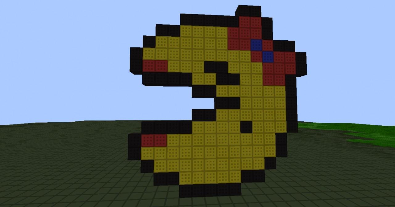 how to make 8 bit art in minecraft