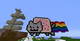 My first Finished Nyan cat Minecraft Map & Project