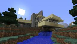 Falling water with Guest house Minecraft Map & Project