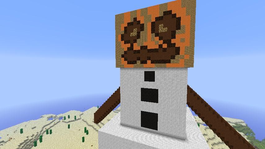 Epic Giant Snow Golem Minecraft Project
