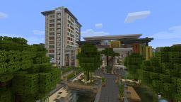 Minecraft Modern Mall Exterior - Beach Town Project Minecraft