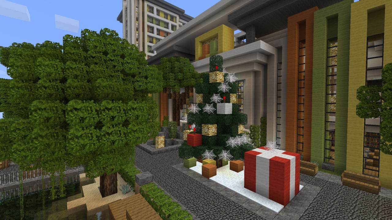 how to make a mall in minecraft