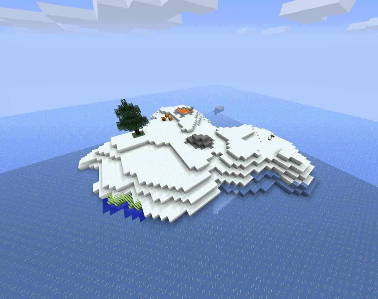 SURV ARCTIC SURVIVAL ISLAND CUSTOM MAP Minecraft Project
