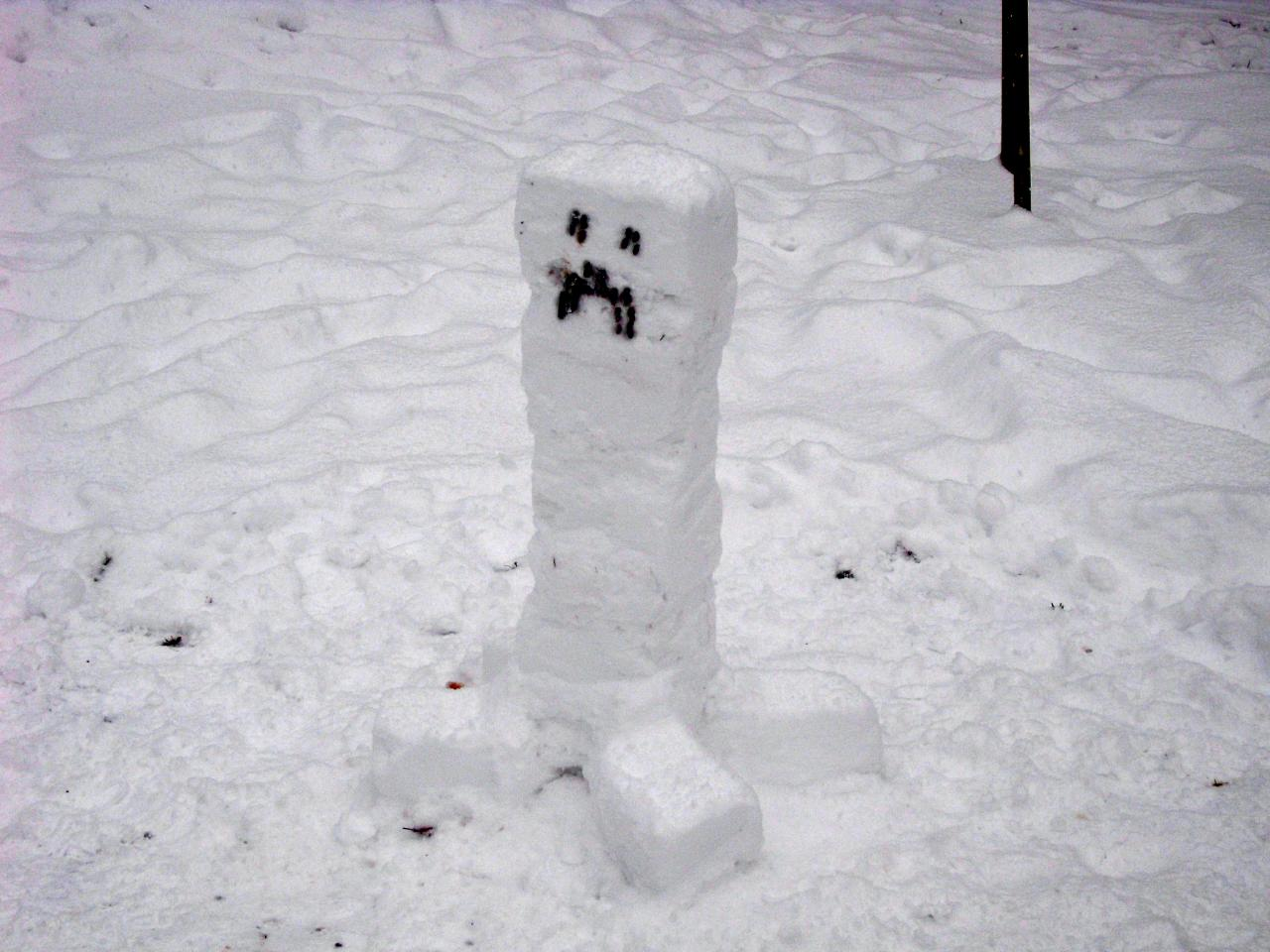 Minecraft Creeper In Real Life Snow creeper [real life! made
