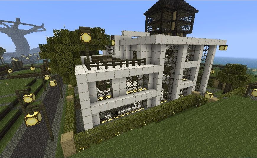 Modern villa minecraft project for Modern huis binnenhuisarchitectuur villas