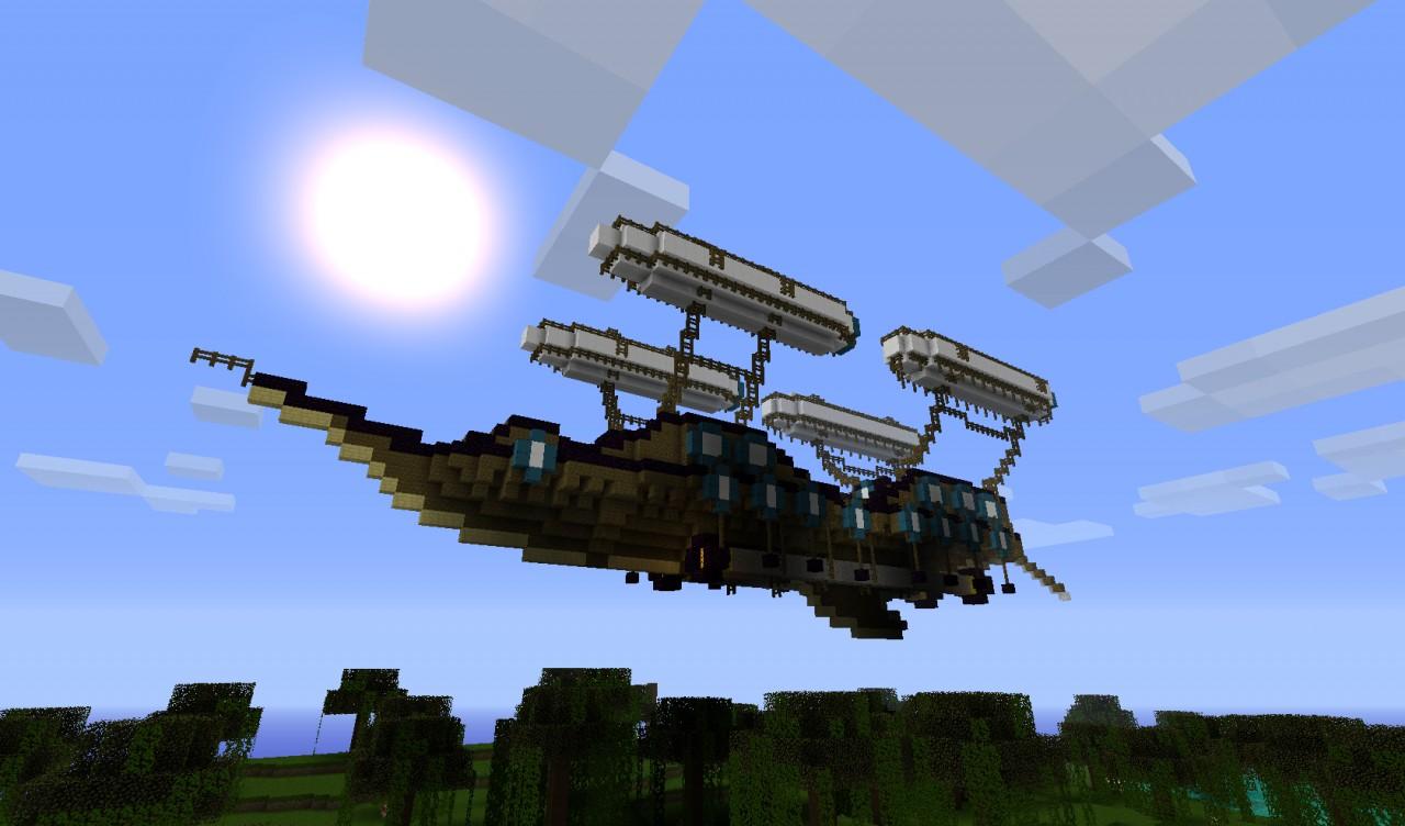 Firestorm steampunk airship. Minecraft Project