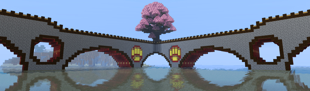 huge japanese sakura cherry tree server mho shinrin faction minecraft project