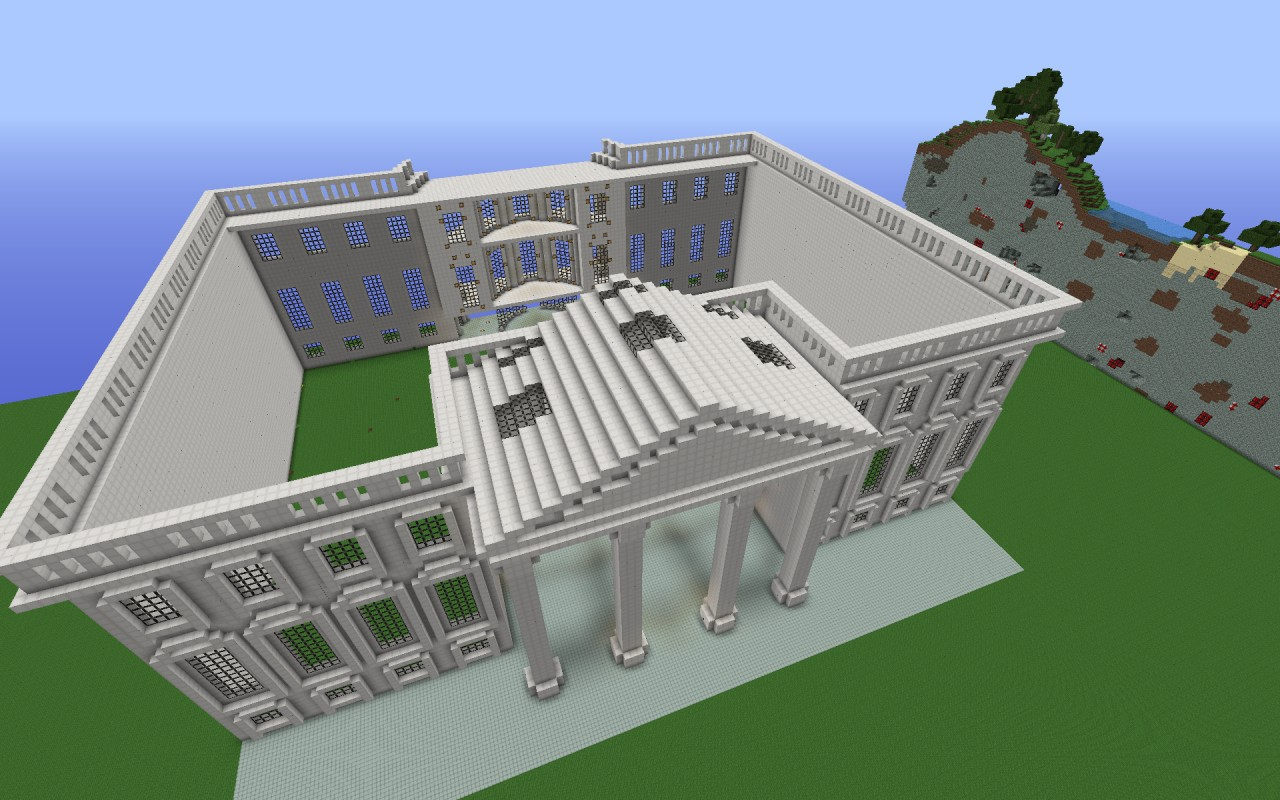 White house replica minecraft project white house replica high above north side malvernweather Images