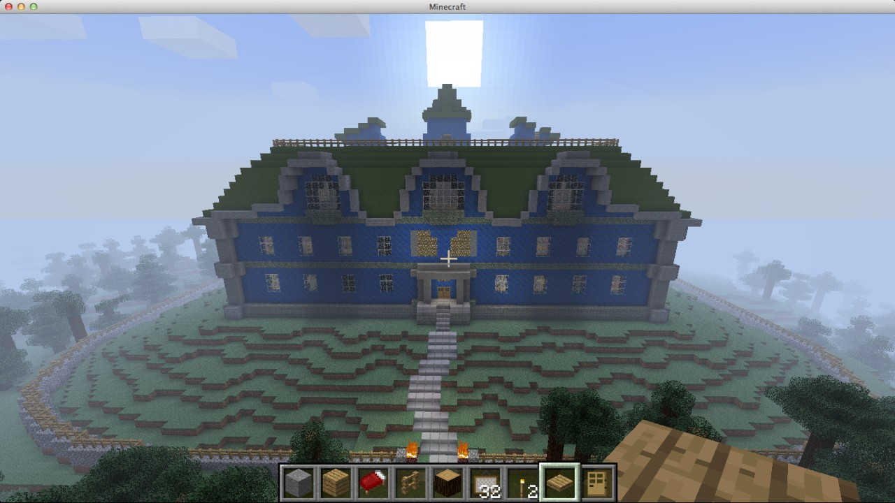 minecraft pe how to build a mansion