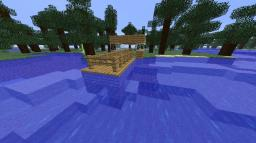 house next to water with ledge Minecraft Map & Project