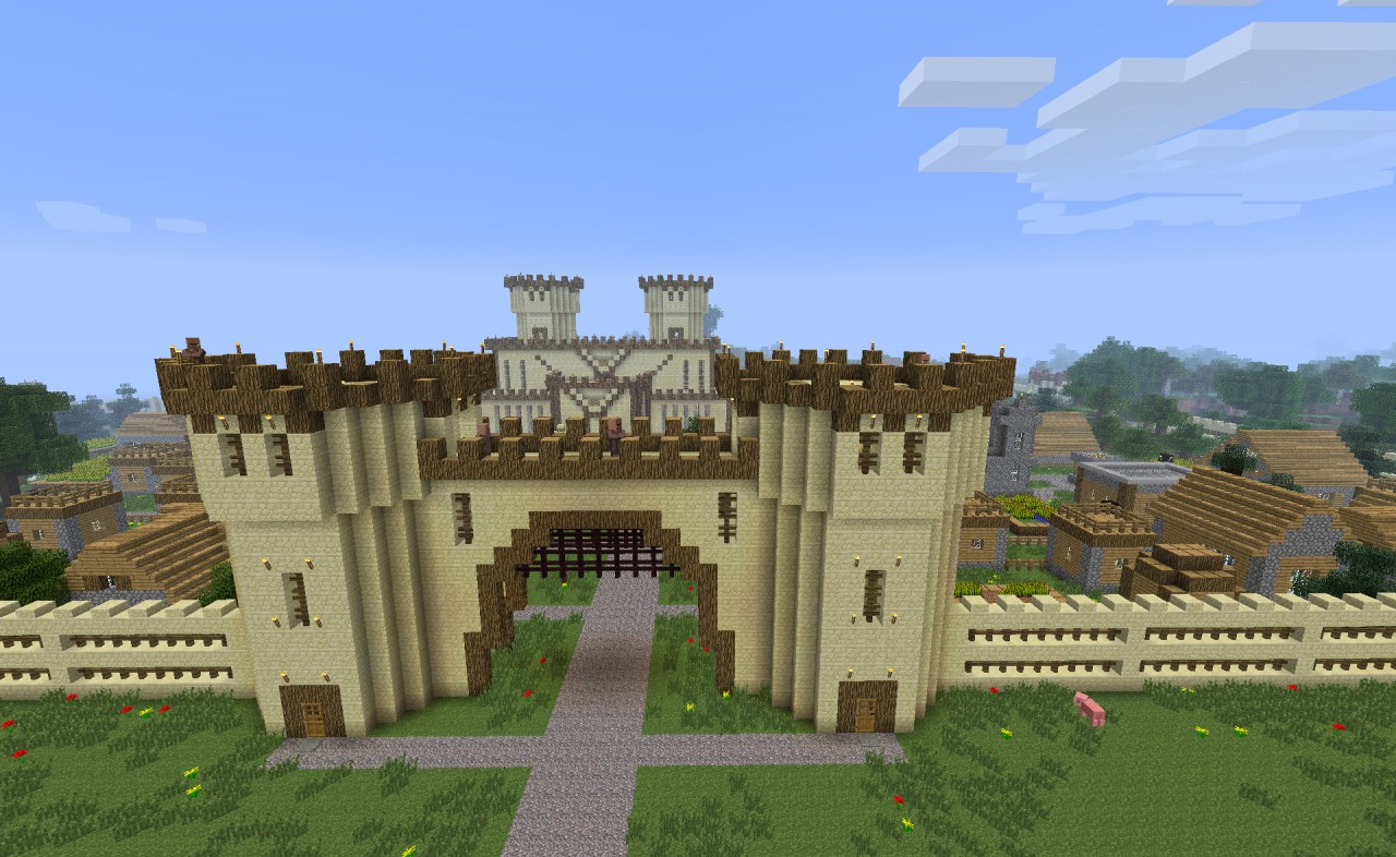 Sevenhollows Castle With 80 Villagers Minecraft Project